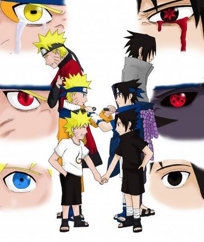 Naruto Shippuuden wallpaper probably with anime entitled naruto & sasuke