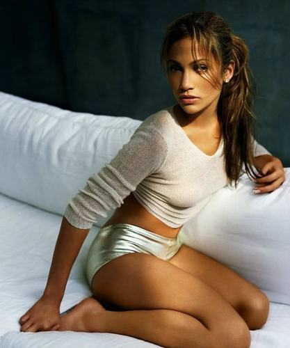 Jennifer Lopez wallpaper probably with bare legs, tights, and support hose called on the 6 photoshoot