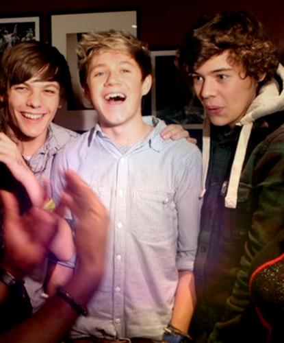 1D = Heartthrobs (Enternal Love 4 1D) Funi Louis, Cutie Niall & Flirt Harry Rare Pic! 100% Real :) x