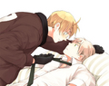 America and England  - hetalia-couples photo