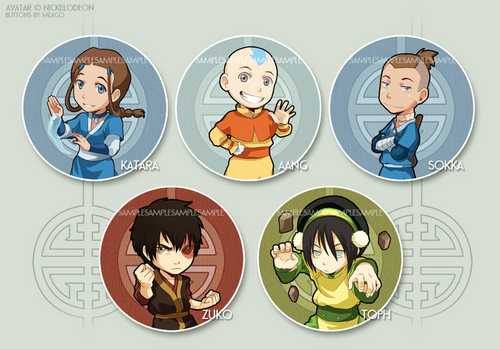 avatar button set