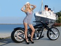 CUSTOM CHOPPER &amp; BABE - motorcycles wallpaper