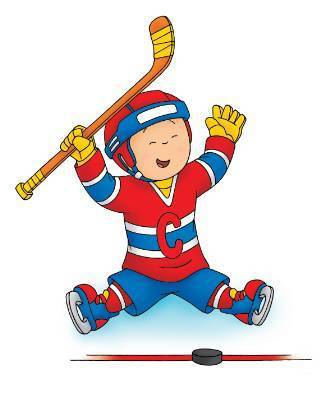 Caillou the Hockey Player