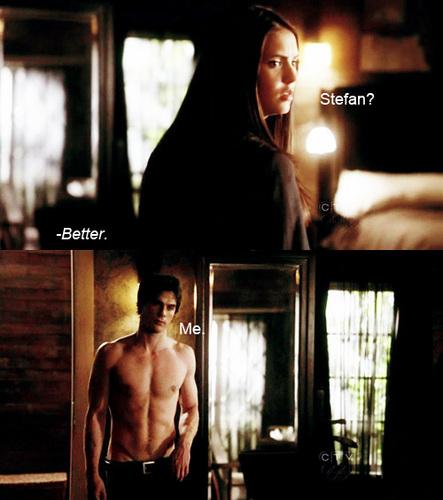 Damon & Elena funny