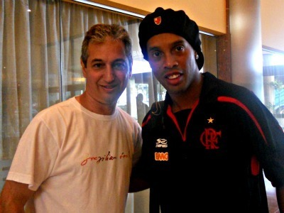 David берег and Ronaldinho Gaúcho in Brazil, March 2011