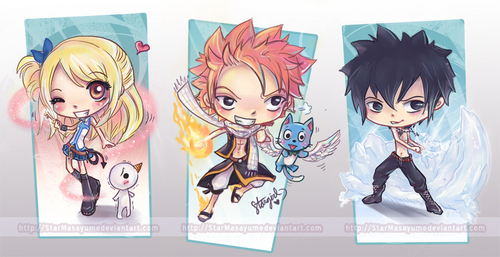 Fairy Tail wallpaper probably with anime called lucy,natsu and gray