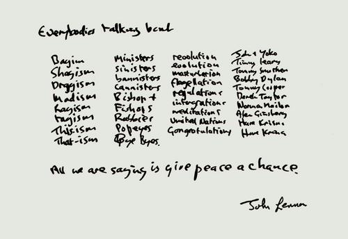 Give Peace A Chance- Lyrics