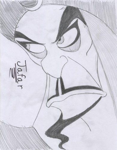 Jafar hình nền entitled Jafar pencil drawing
