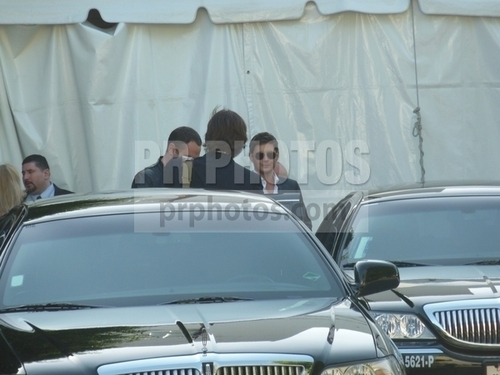 Jared & Jensen leaving paley fest 2011