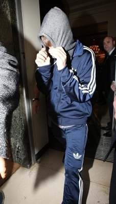 Justin Bieber Leaving Claridges in London