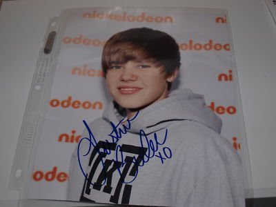 Justin Bieber Autograph on Justin Bieber Signed Autograph Xx   Justin Bieber Photo  20260583