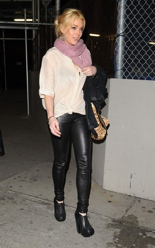 Lindsay Lohan's Family Knicks Night Out