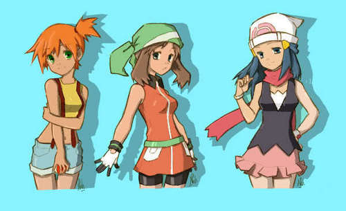 dawn may Pokemon misty