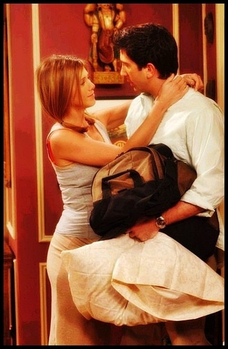 Friends wallpaper probably with a bouquet and a bridesmaid entitled Ross and Rachel