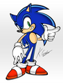 Sonic - sonic-the-hedgehog fan art