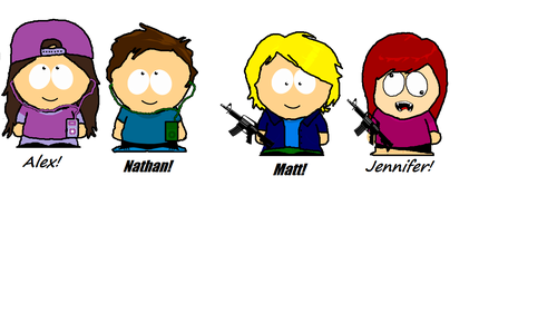 South Park Hintergrund titled Us As South Park Characters