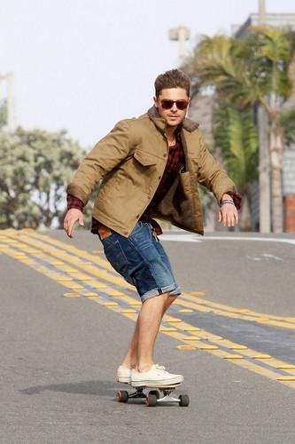 Zac skateboarding