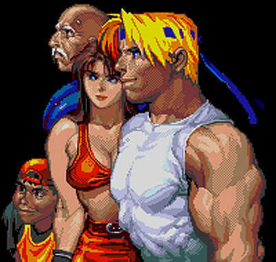 bare knuckle 3 main team - streets-of-rage Photo