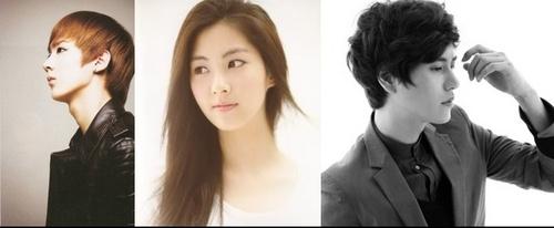 Super Generation: Super Junior & Girls' Generation wallpaper with a portrait titled chunjiseokyu