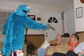 he want a cookie really badly!! - cookie-monster Photo
