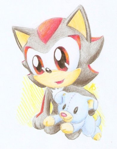 little shadow with plushie