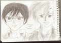 tamaki and kyoya pencil drawing