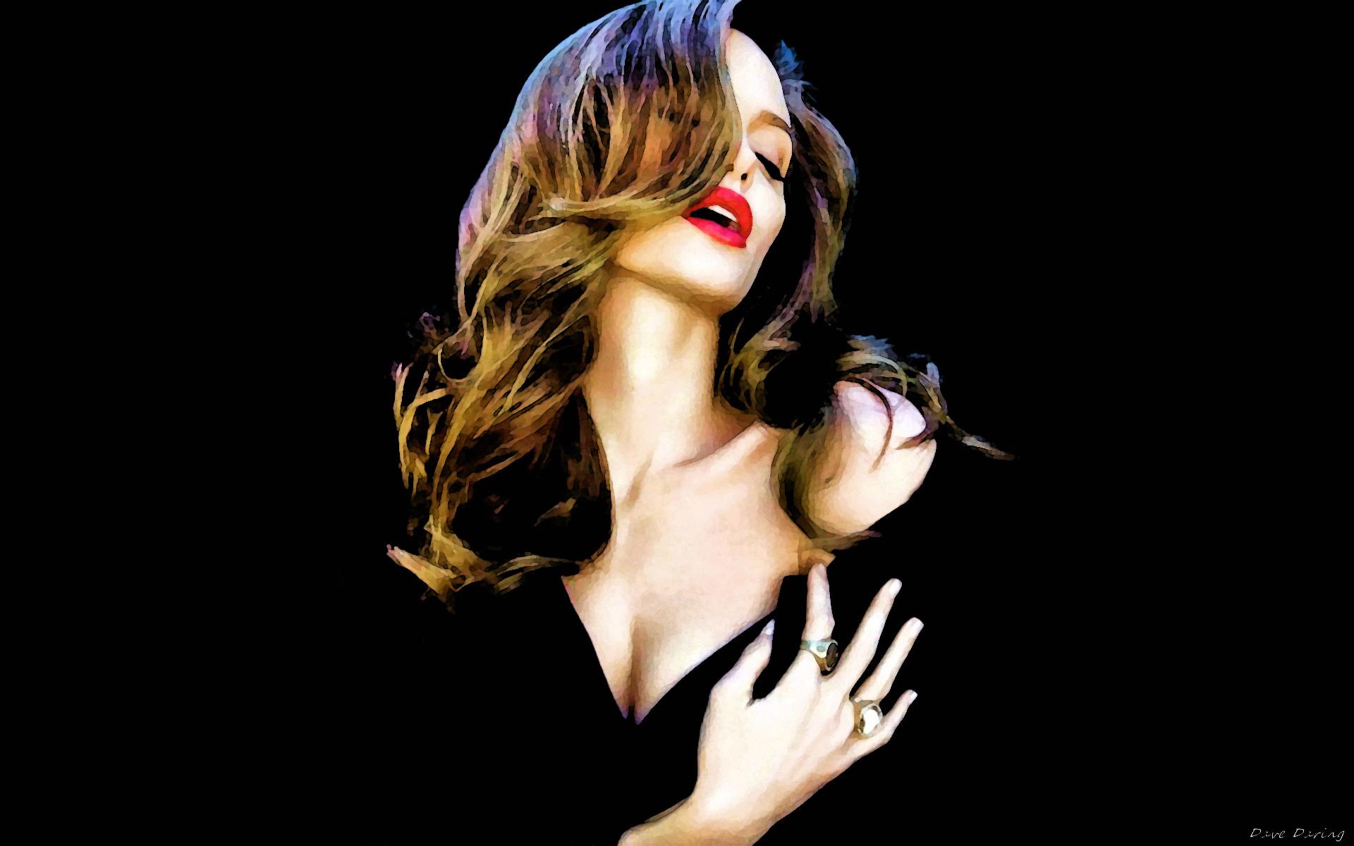 Angelina Jolie (By Night) দেওয়ালপত্র