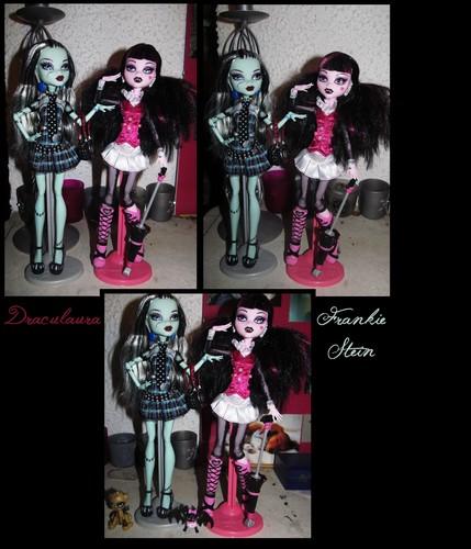 Annàh's Draculaura and Frankie Stein