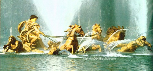 Greek Mythology wallpaper with a fountain titled Apollo & the Sun Horses