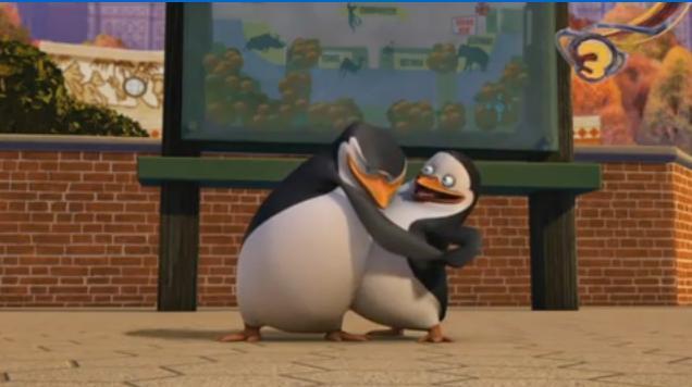 Aww, Skipper hugging Private