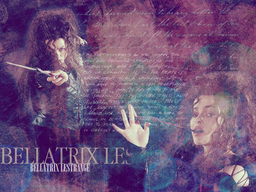 Bellatrix Lestrange fond d'écran possibly with a sign titled Bellatrix