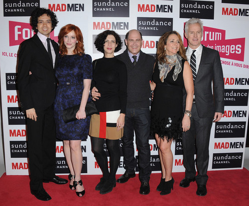 Christina Hendricks wallpaper with a business suit and a well dressed person called Christina Hendricks - 'Mad Men' Photocall And Masterclass At Forum Des Images