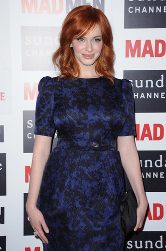 Christina Hendricks wallpaper probably with a cocktail dress, a dinner dress, and a dress titled Christina Hendricks - 'Mad Men' Photocall And Masterclass At Forum Des Images