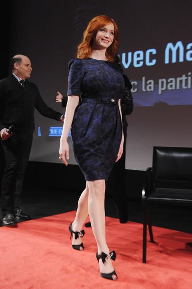 Christina Hendricks - 'Mad Men' Photocall And Masterclass At Forum Des Images