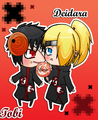 Deidara and Tobi chibi