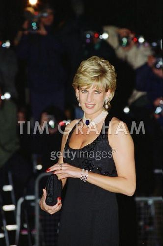 Diana, Princess of Wales attending a Gala