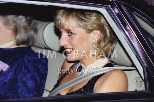 Diana, Princess of Wales attending a Gala