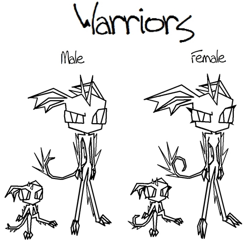 Invader Zim FanCharacters वॉलपेपर probably containing ऐनीमे titled Drawing Bases - Warrior Toxens