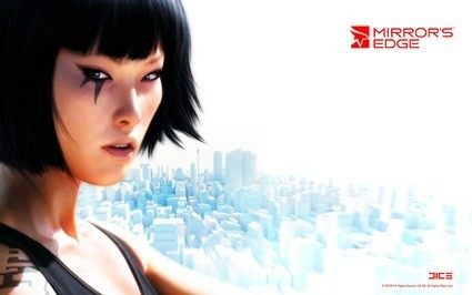 Mirror's Edge wallpaper with a portrait entitled Faith Connors