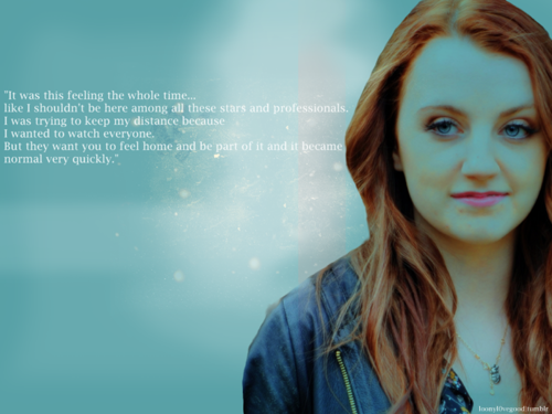 Evanna Lynch fondo de pantalla containing a portrait called fan Art
