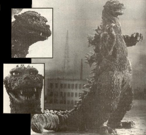 Godzilla wallpaper probably containing a street, a living room, and a window seat titled Godzilla 1954-2004