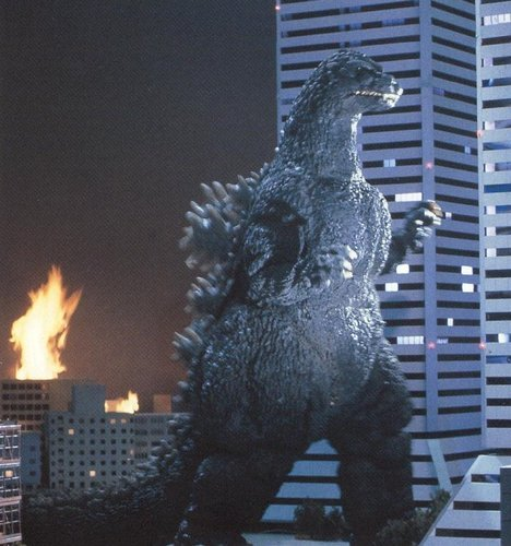 Godzilla 壁纸 probably containing a 火, 消防 called Godzilla 1954-2004