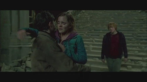 Harry and Hermione in Deathly Hallows-Part 2
