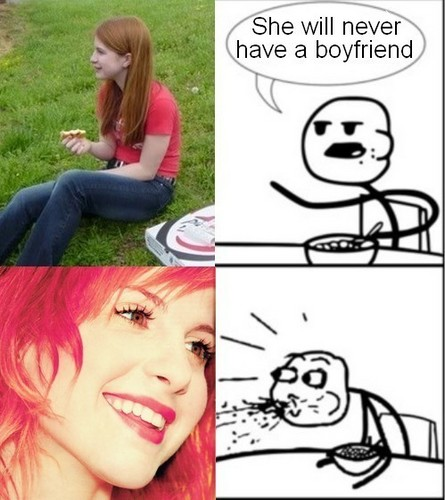 Hayley Williams PWNS Cereal Guy