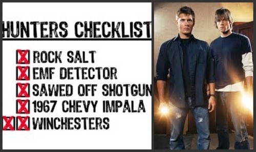 Hunter check list