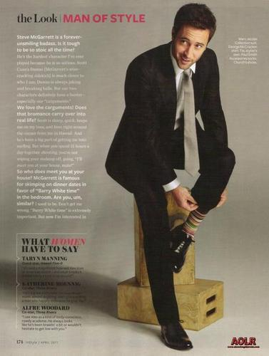 Alex O'Loughlin achtergrond with a business suit, a well dressed person, and a suit entitled InStyle - April 2011