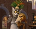 King Julien and Mort - penguins-of-madagascar screencap