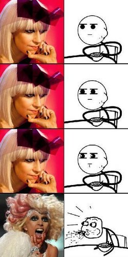 Lady Gaga PWNS Cereal Guy