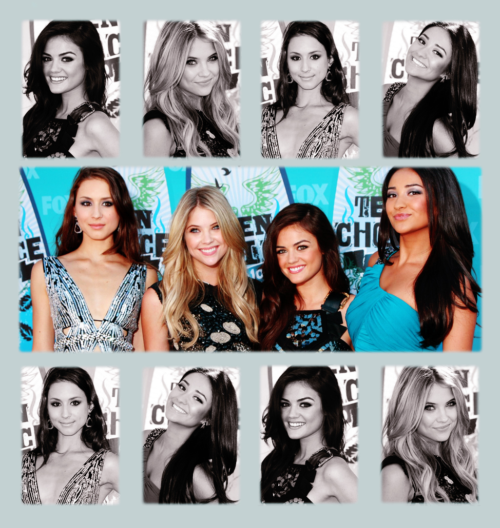 Lucy,Ashley&the PLL Cast