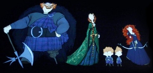 Merida and family (concept art)